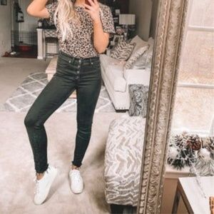 Madewell Jeans - MADEWELL Black Skinny Button-Through Edition Jeans